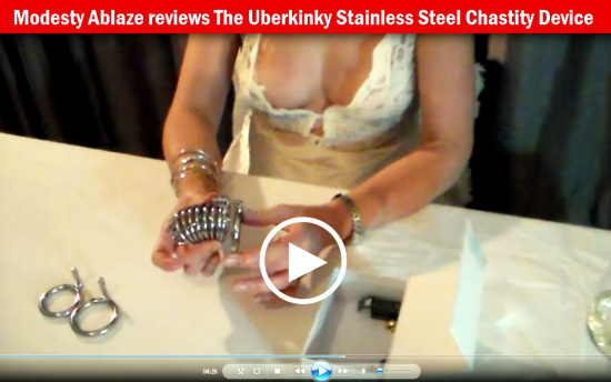Modesty reviews The Uberkinky Stainless Steel Chastity Device